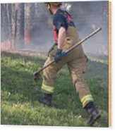 Firefighter 2901 Wood Print