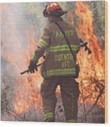 Firefighter 967 Wood Print