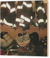 Firefighter Gear Wood Print