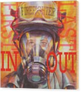 Firefighter Wood Print