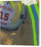Firefighter Still Life Wood Print