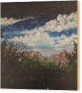 Fireflies At Dusk Wood Print