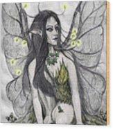 Firefly Faery Wood Print