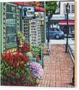 Firefly Lane Bar Harbor Maine Wood Print
