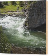 Firehole Canyon 1 Wood Print
