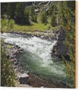 Firehole Canyon 2 Wood Print