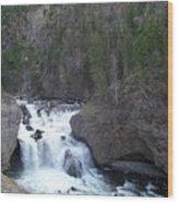 Firehole Falls Wood Print