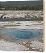 Firehole River And Pool Wood Print