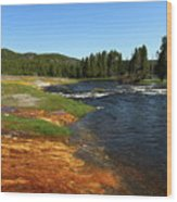 Firehole River Colors Wood Print