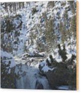 Firehole River Falls Wood Print