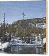 Firehole River Wood Print
