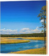 Firehole River Wood Print