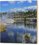 Firehole River Yellowstone Wood Print