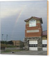 Firehouse Ranibow Wood Print