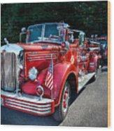 Fireman - 1949 And It Still Runs  Wood Print