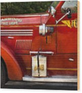 Fireman - Garwood Fire Dept Wood Print by Mike Savad