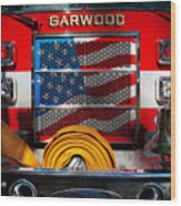 Fireman - I'll Put Your Fire Out Wood Print by Mike Savad