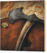 Fireman - The Fire Axe  Wood Print