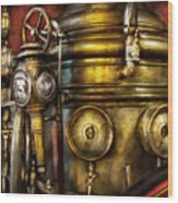 Fireman - The Steam Boiler  Wood Print