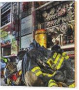 Fireman - Always Ready For Duty Wood Print
