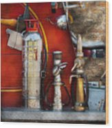 Fireman - An Assortment Of Nozzles Wood Print