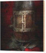 Fireman - The Mask Wood Print