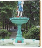 Firemans Monument  Owego New York Wood Print