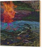Firenwater Wood Print