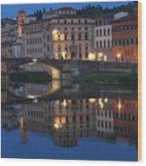Firenze Blue I Wood Print