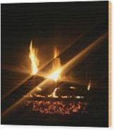 Fireplace Wood Print
