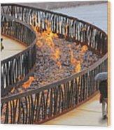 Fireside Walk Wood Print