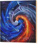 Firestorm Dancing With The Wind  Wood Print