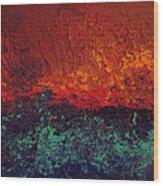 Firestorm Wood Print