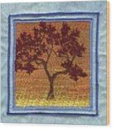 Firetree2 Wood Print