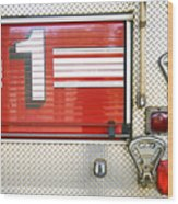 Firetruck Detail I Wood Print by Kicka Witte - Printscapes