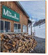 Firewood Ready To Burn In Fire Place Wood Print