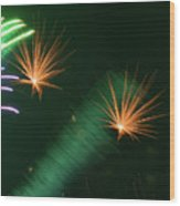 Firework Abstract Wood Print