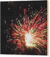 Firework Christmas Sparkle Wood Print