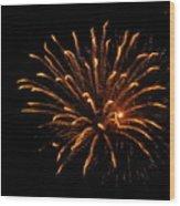 Firework Golden Lights Wood Print