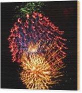 Firework Jewel Blast Wood Print