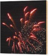 Firework Lights Of The City Wood Print