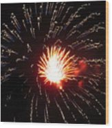 Firework Matchlight Wood Print
