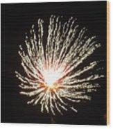 Firework White Fluff Wood Print