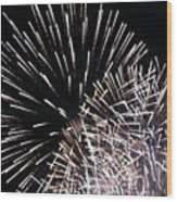 Firework Within Fireworks Wood Print