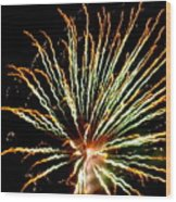 Firework Yellow Tip Wood Print