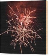 Fireworkd Wood Print