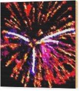 Fireworks 102 Wood Print