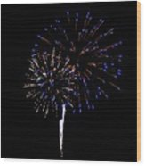 Fireworks 12 Wood Print