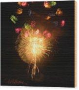 Fireworks-2 Wood Print