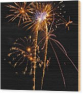 Fireworks 2 Wood Print by Michael Peychich